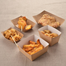 brown kraft paper fast food packaging box