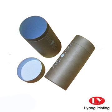 Recyclable brown kraft paper tube packaging box