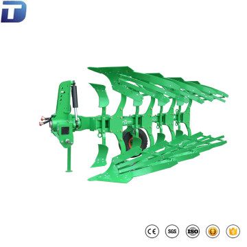 Tractor mounted hydraulic reversible furrow moldboard plow