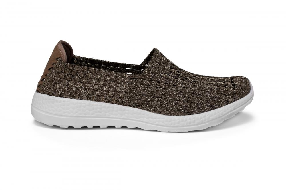 Deep Brown Woven Hollow Shoes