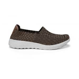 Brown Breathable Memory Insole Woven Hollow Work Shoes