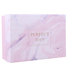Pink marble pattern beautiful boxes for gifts