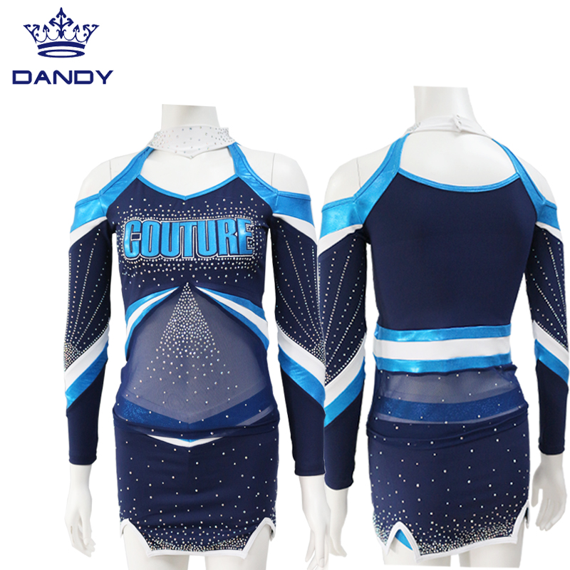 cheerleading uniforms blue and white