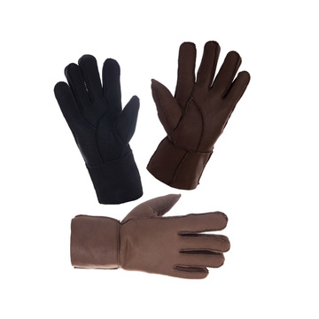 Genuine sheepskin ladies winter gloves