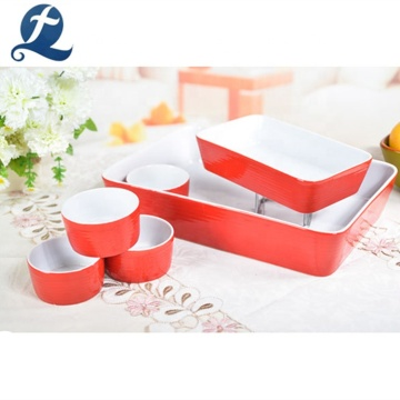 High quality ceramic home hotel cooking bakeware baking tray set