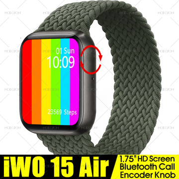 MODOSON 1.75 inch Smart Watch iwo 15 Air Series 6 W26+ Encoder Knob Heart Rate Fitness Track Smartwatch W26 Pro For Apple iphone