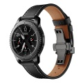 22mm Butterfly buckle Leather strap for Huawei watch gt 2 46mm / GT 2e /HONOR Magic band bracelet smart watch band Accessories