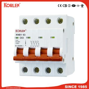 6ka Mini Circuit Breaker with SEMKO KNB1-63 1P