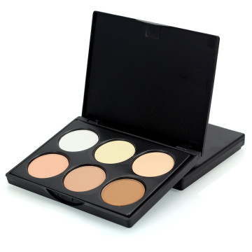 Private Label 6-color high-gloss shadow highlighter powder