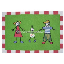 hand hooked carpet with kids designs