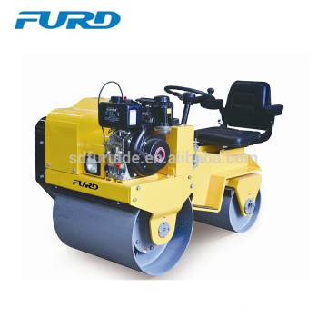 Ride-on Double Drum Small Hydraulic Vibratory Roller (FYL-850)