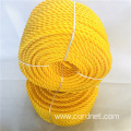 6mm Yellow Twist PE rope with low price