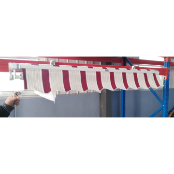 Retractable arms awning out door awning 2*1.5M Red and white