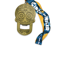 Custom price metal skull medal