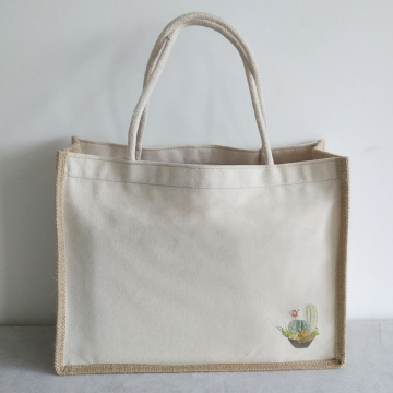 recycled hemp cotton canvas tote bags
