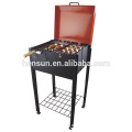 Outdoor Smoker Galvanized Portable Charcoal Grill