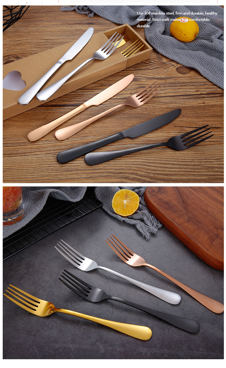 Stainless Knife and Fork Set
