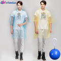 Promotion Waterproof Cheap Disposable PE Raincoat In Ball
