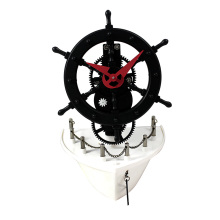 Ship Sailboat Gear Desk Clock for Decoration