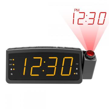 Projection Radio Clock Speaker Creative Digital Clock LED Display with Dual USB Alarm Clock