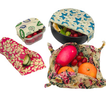 4pcs/Set 1S 2M 1L Plastic Free Zero Waste Natural Eco-friendly Reusable Sustainable Food Container Storage Wrap Beeswax Wraps