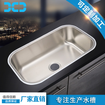 304 stainless steel single bowl kitchen sink