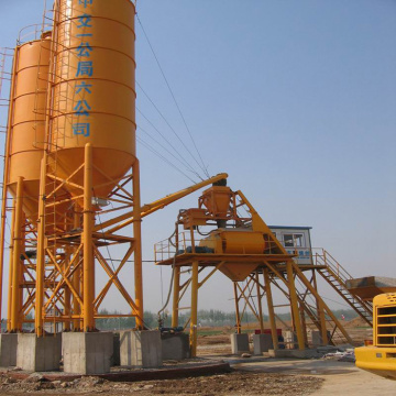 Hopper lift small HZS35 automatic concrete batching plant