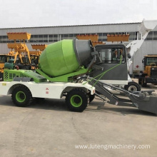Self loading concrete mixer truck/self loading truck
