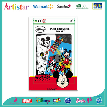 DISNEY MICKEY MOUSE colouring set