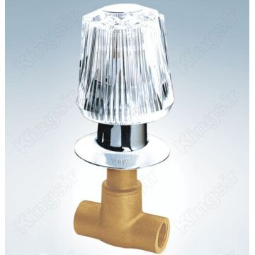 Brass Shower Valve Tare da Acryl Knob