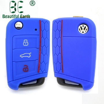 Silicone Volkswagen Rubber Golf7 MK7 Key Cover