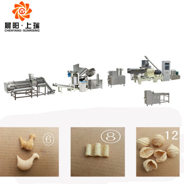 Bugles Corn Chips Pellet Snacks Food Making Machine