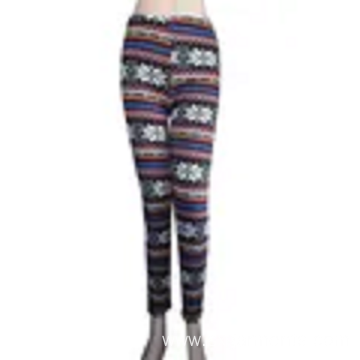 Custom 98% polyester 2% spandex lady's leggings