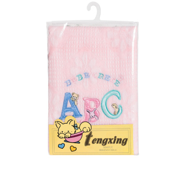 Hot selling acrylic knitted baby shawl