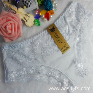 OEM wholesale China new style white sexy comfortable lace cotton fancy underwear 511