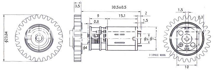 Slide Lock Gear Motor