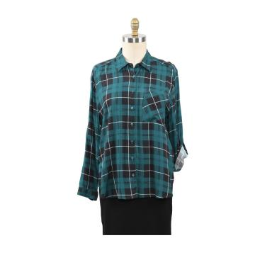 Ladies Tops Spring New Arrival Plaid Casual Shirt