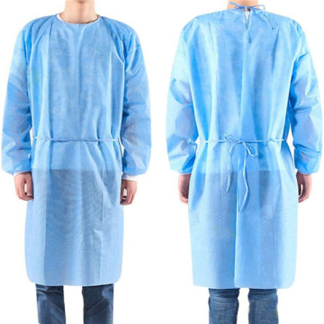 Hospital Patient Disposable PP Non Woven Isolation Gown