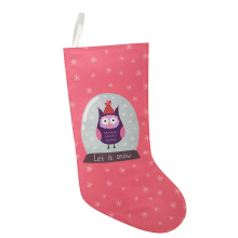 Christmas printed owl pattern stocking