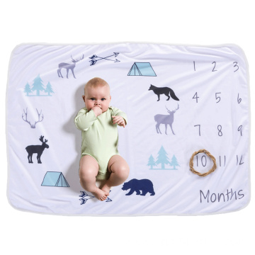 animal printed warm flannel fleece baby throw blanket