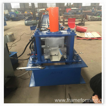 Steel water rain gutter roll forming machine