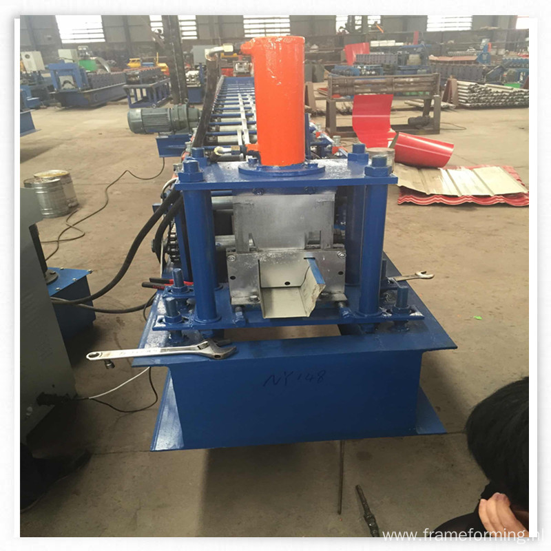 metal rain gutter making machine