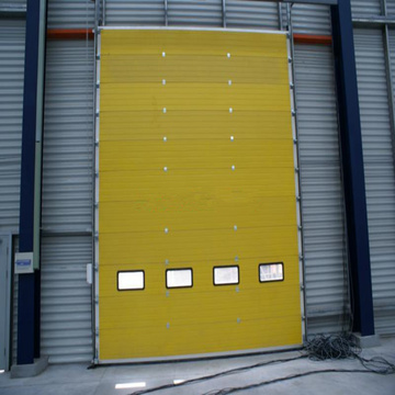 Aluminum alloy overhead sectional door