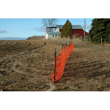 HDPE orange safety fence