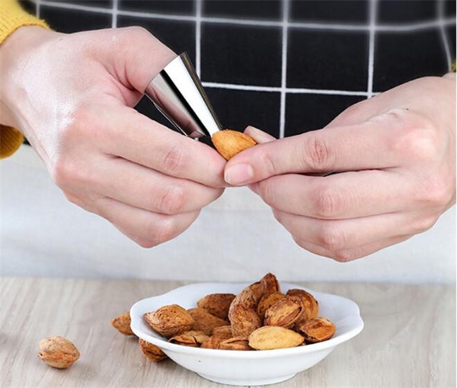 Quick shell artifact Kitchen Gadgets Cooking Tools Peeler Parer Finger Type Open Orange Peel Orange Device Finger protection
