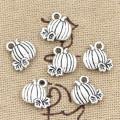 20pcs Charms Pumpkin Fall Thanksgiving 10x10mm Antique Making Pendant fit,Vintage Tibetan Silver color,DIY Handmade Jewelry