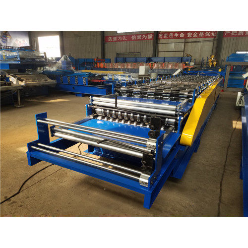 Trapezoid wall roof panel roll forming machine