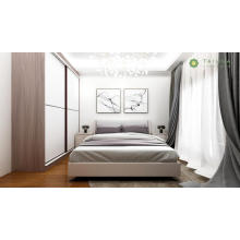 Ang Luxury King Bed na may High Sliding Door Wardrobe