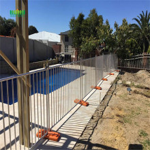 Durable concrete temporary fence