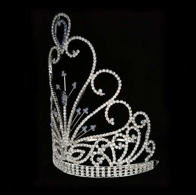 8 Inch Rhinestone Queen Pageant Crown Tiara